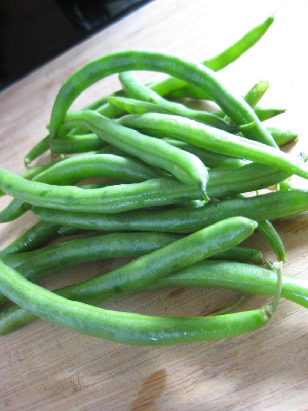... staples in abundance at the market and produce auction: green beans