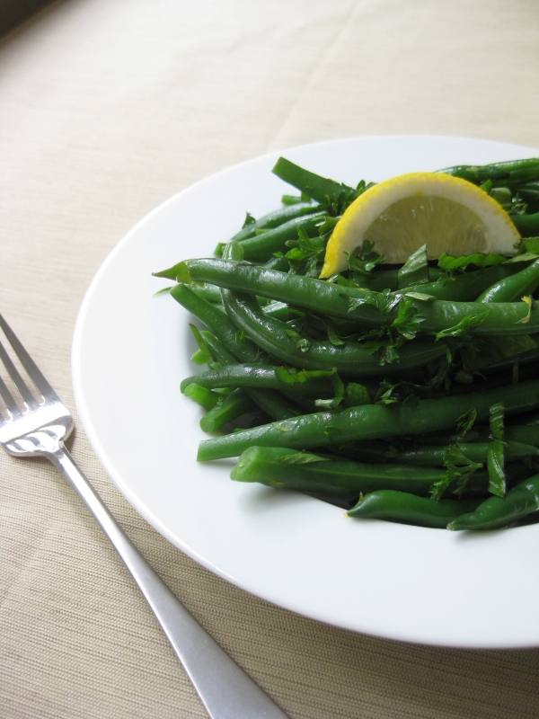 Herbed Green Beans with Lemon Zest