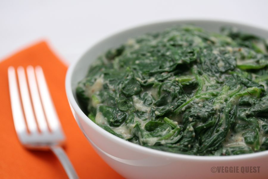 Fast, Low-Fat Vegan Creamed Spinach