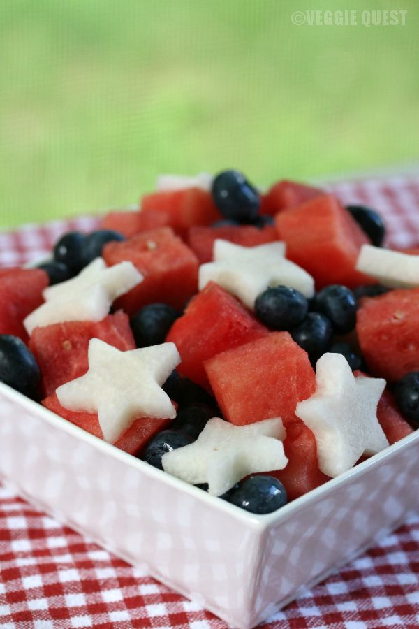 Easy Red, White, and Blue Salad
