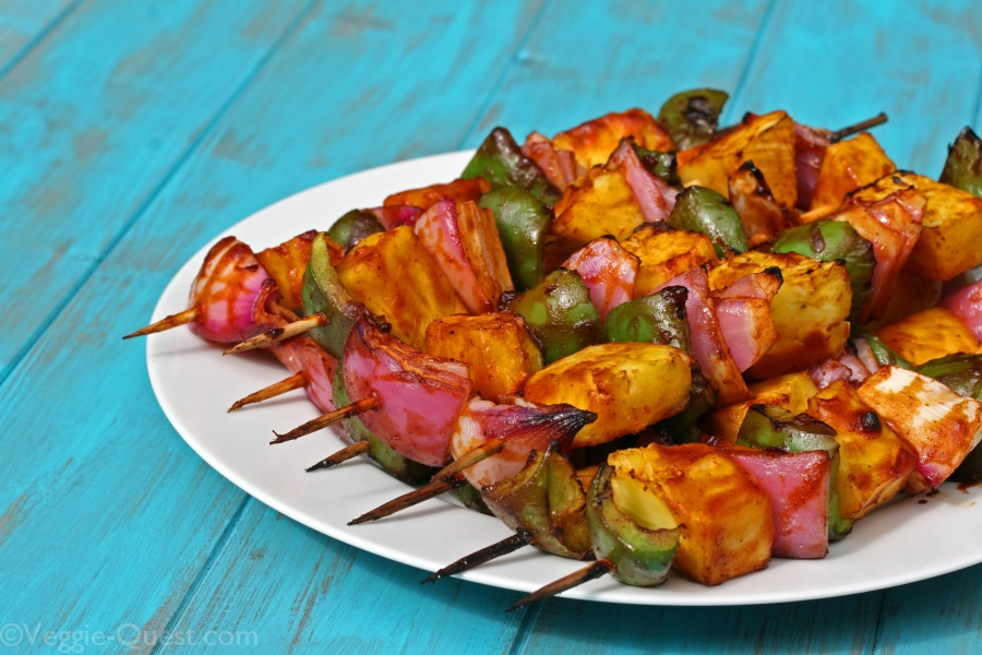 Quick Barbecued Vegetable Kebabs