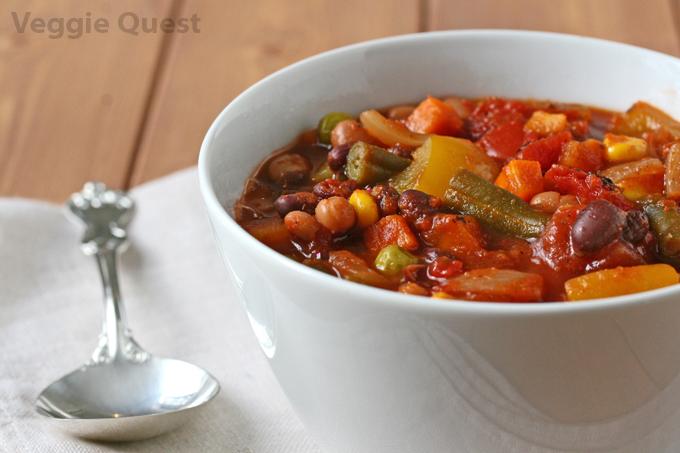 Loaded Veggie Chili (Vegan, Oil-Free)