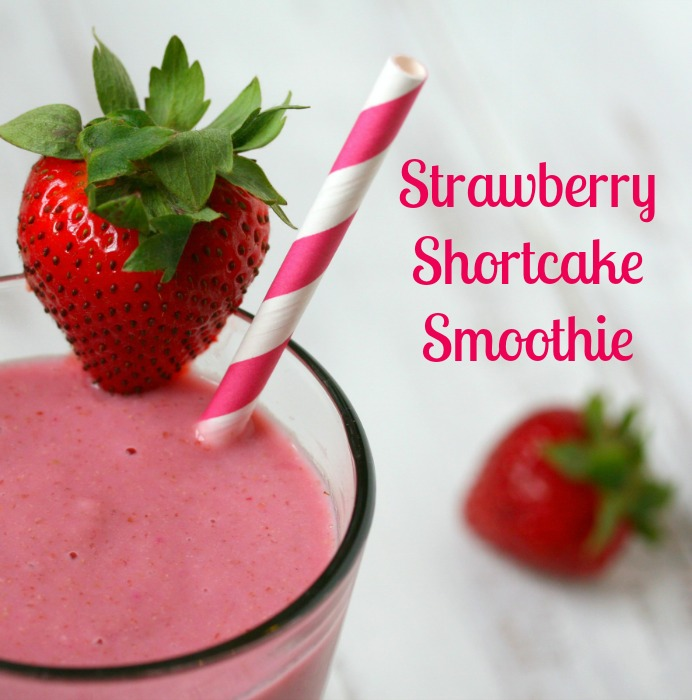 Vegan Strawberry Shortcake Smoothie Recipe — Dishmaps