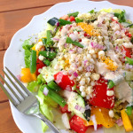 Chopped Vegetable Salad with Sweet Corn