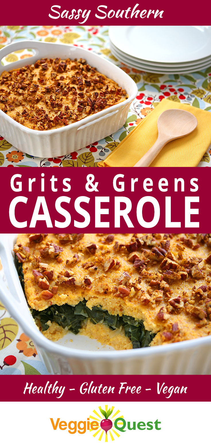 Scandalously Good Grits and Greens Casserole