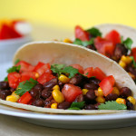 10-Minute Black Bean Taco Recipe (Low Fat, Vegan)