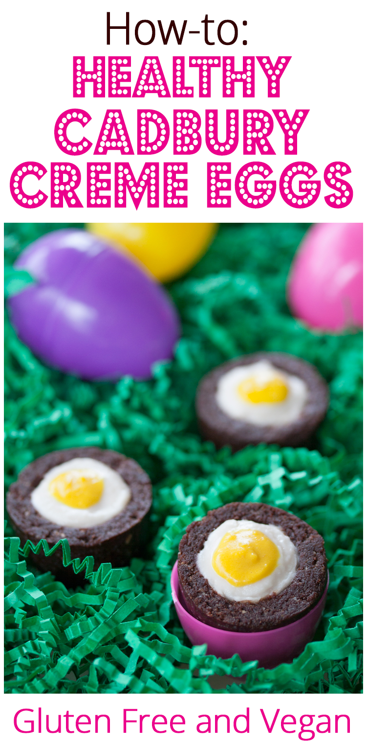 Healthy Homemade Cadbury Creme Eggs - Gluten Free and Vegan Too