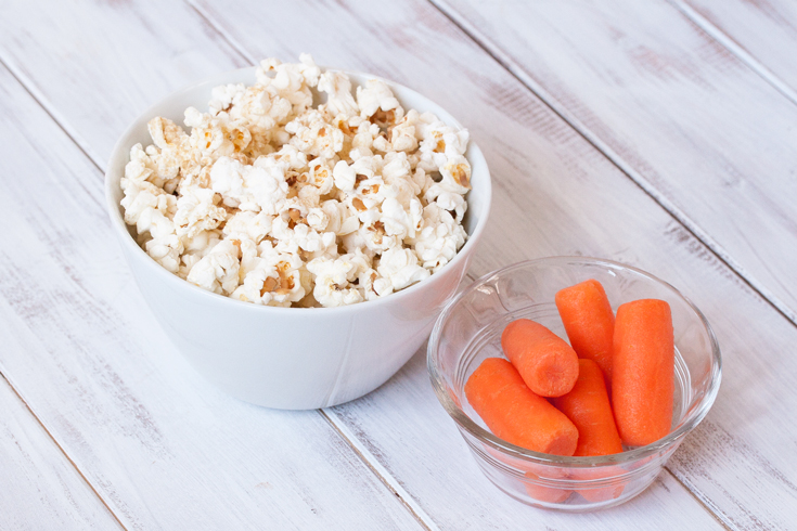 Popcorn and carrots