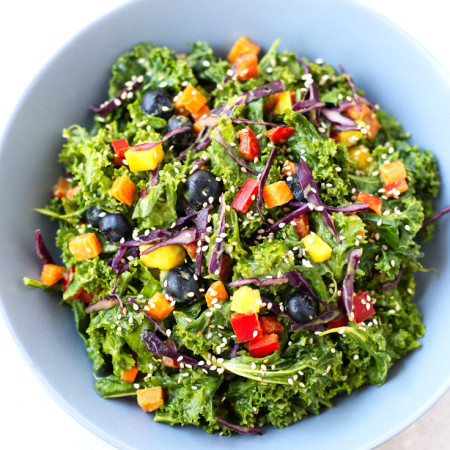 Oil-free-rainbow-kale-salad