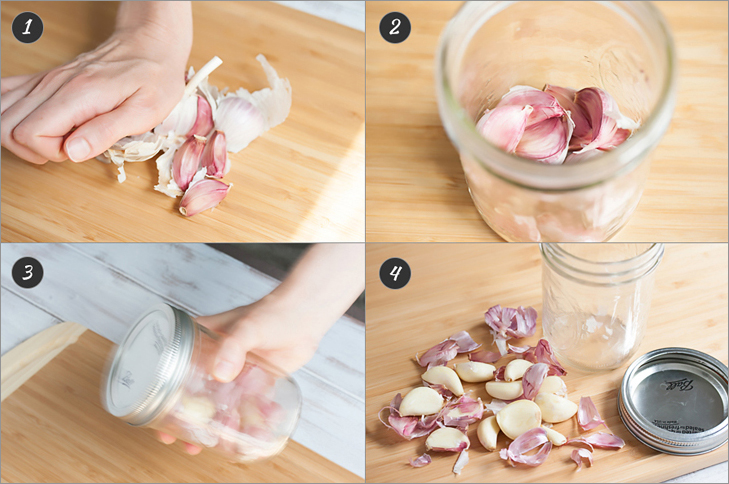 Peel a whole head of garlic in 30 seconds + 6 more cooking hacks from www.Veggie-Quest.com!