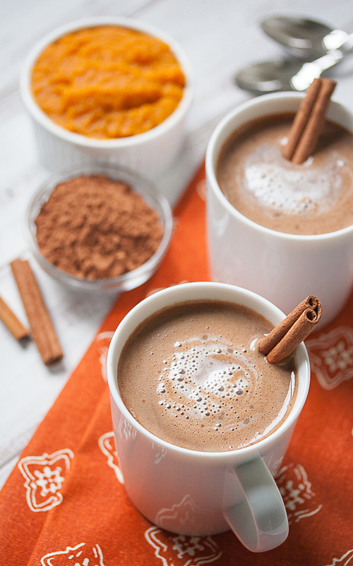 recipe (okay, maybe a little bit?), pumpkin makes hot chocolate ...