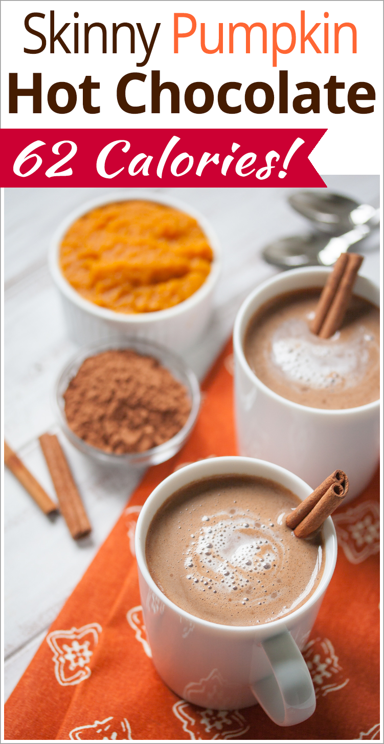 Skinny Vegan Pumpkin Hot Chocolate