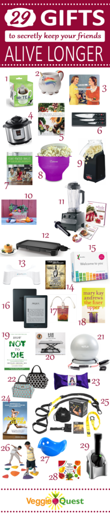 2016 Gift Guide: 29 Secretly Healthy Gifts for Cooks, Readers, Guys, Kids, Health Buffs, Workaholics, and More