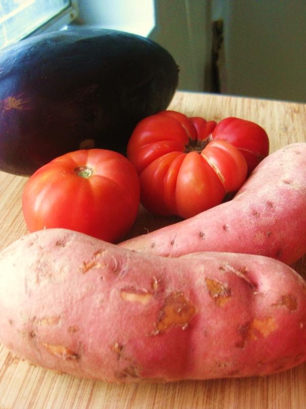 Sweet-Potato-Tomatoes-Eggplant