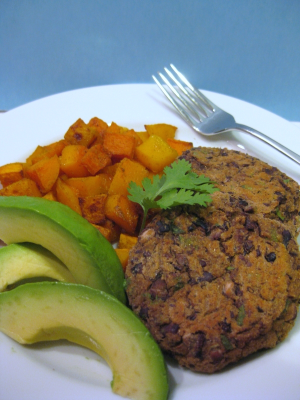 Cuban-Black-Bean-Cakes_Butternut-Squash