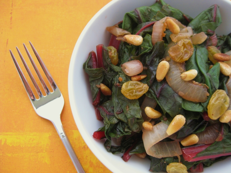 Swiss-Chard-with-Raisins-2