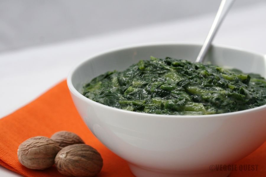 low fat vegan creamed spinach