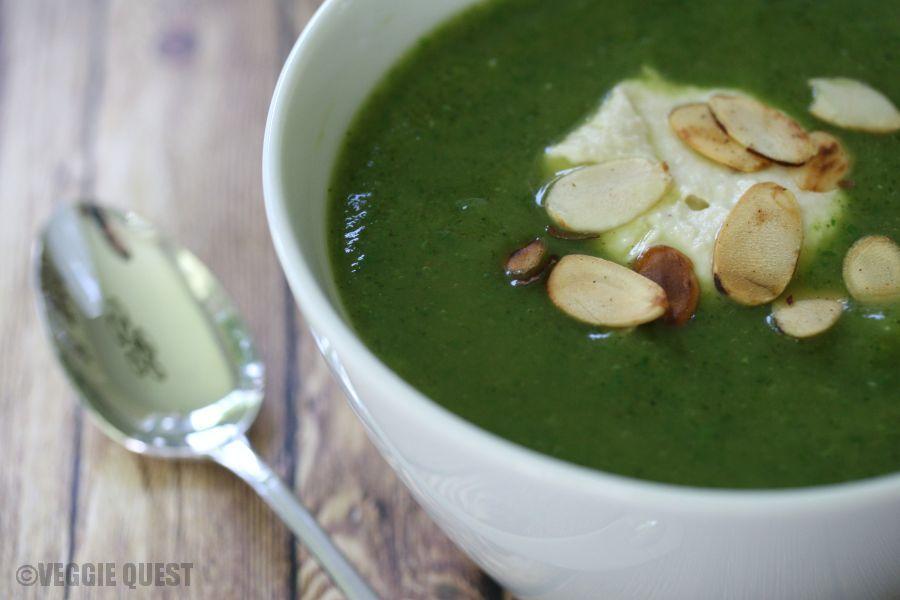 Crazy Easy Zucchini Basil Soup (Low Fat, Vegan)