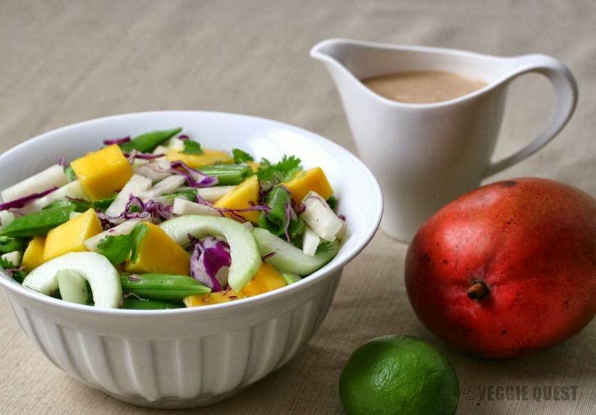 Sweet and Crunchy Mango Jicama Chopped Salad