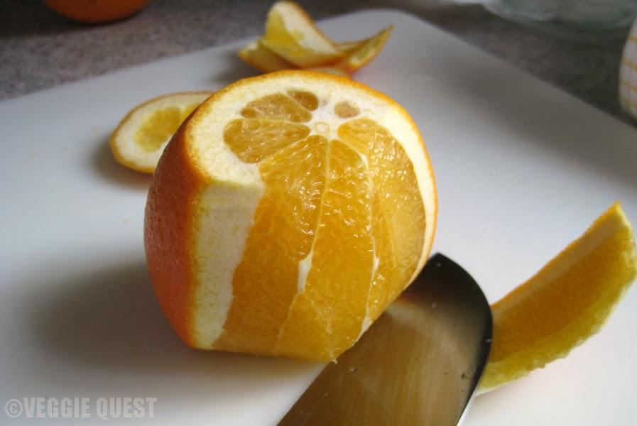 The quick way to peel an orange