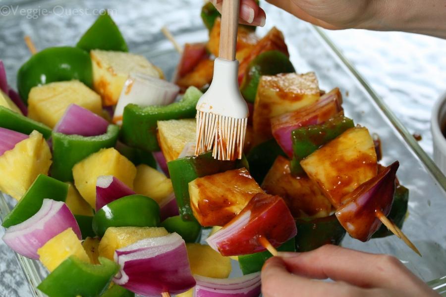 Barbecued Vegetable Kebab Process