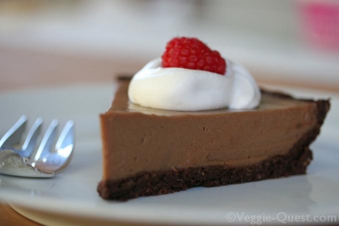 Cauliflower Vegan Chocolate Silk Pie 5_WM