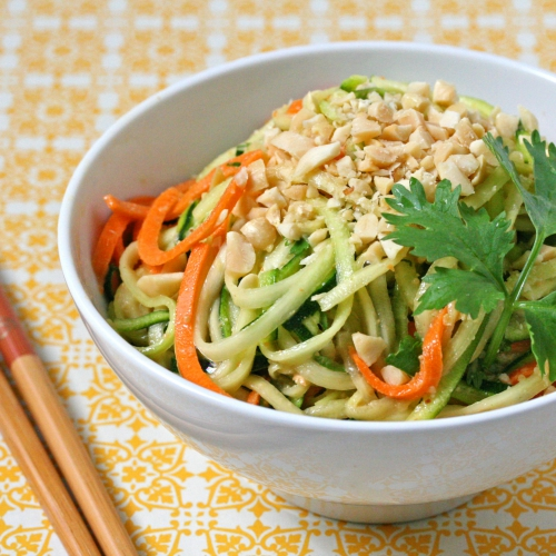Veggetti Zucchini Spiralizer Recipe – Peanutty Vegan Pad Thai Salad