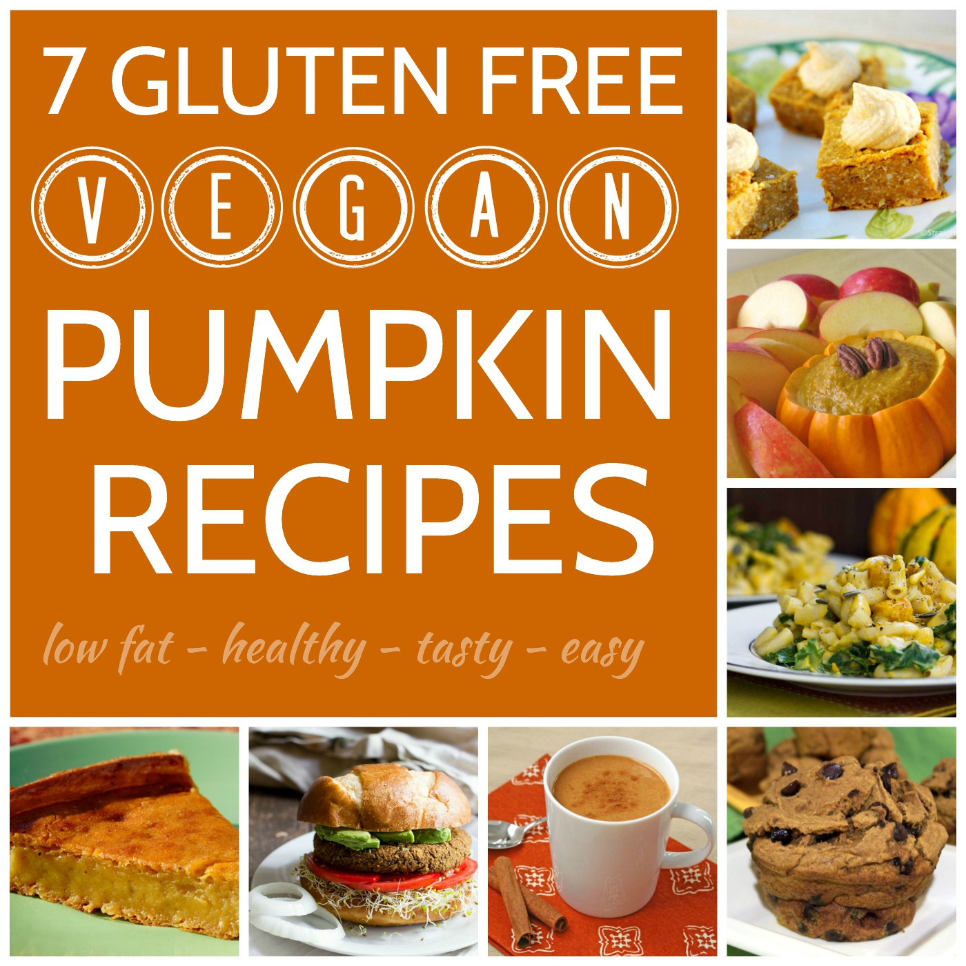 7 Gluten-free vegan pumpkin recipes (low fat and easy too!)