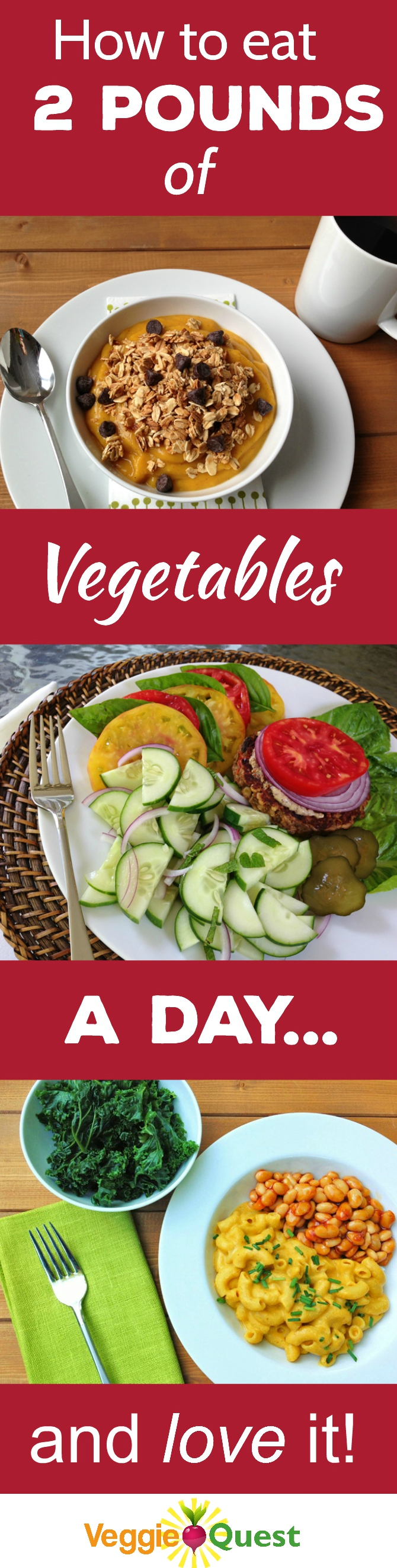 How to eat 2 pounds of vegetables a day - and love it! (Gluten free - plant-based)