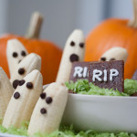 Banana Ghosts with Chocolate-Sweet Potato Dip