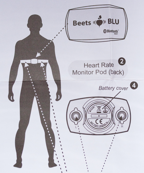 Beets BLU heart rate monitor instructions