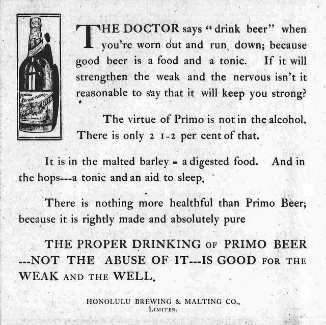 Vintage Ad - Beer is Healthy