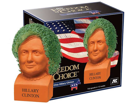 Hillary Chia Pet from Amazon