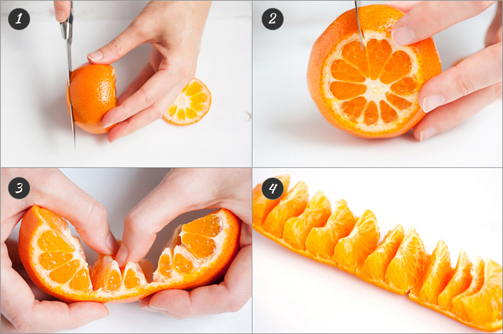 Unravel a tangerine + 6 more cooking hacks from www.Veggie-Quest.com!