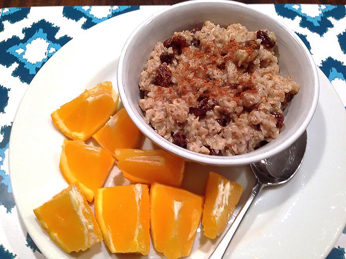 Vegan SNAP challenge breakfast