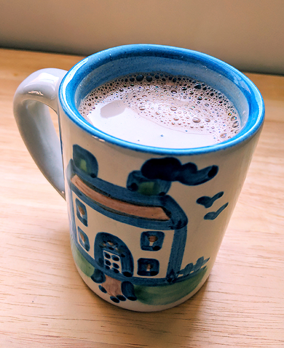 almond milk hot cocoa - Vegan SNAP challenge