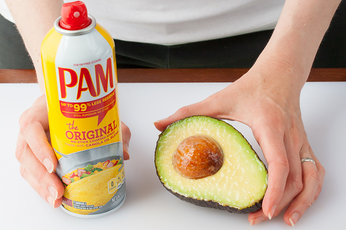 Keep avocado from turning brown with cooking spray