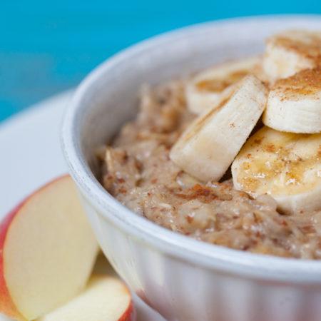 Vegan banana bread oatmeal