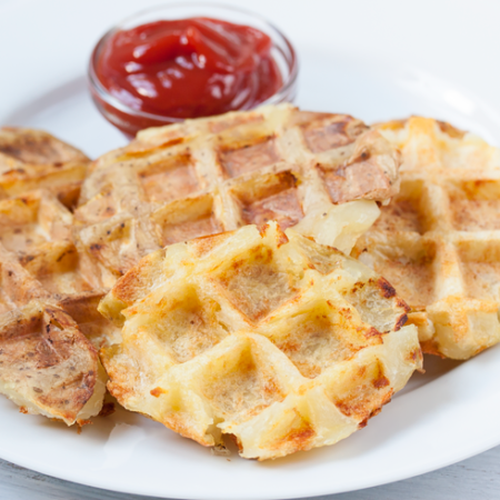 Waffle fries from a waffle maker